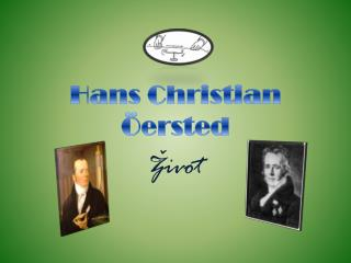 Hans Christian  ö ersted