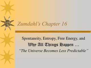 Zumdahl's Chapter 16