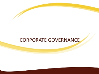 Principles for sound corporate governance