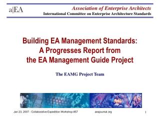 Enterprise Architecture Scope and Principles