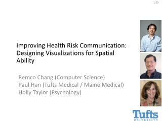 Remco Chang (Computer Science) Paul Han (Tufts Medical / Maine Medical) Holly Taylor (Psychology)