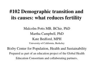 #102 Demographic transition and its causes: what reduces fertility