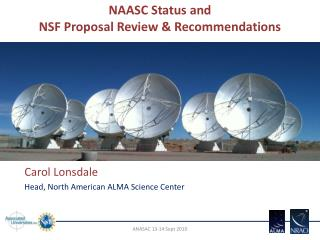 NAASC Status and           NSF Proposal Review & Recommendations