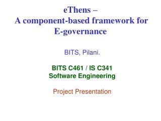 EThens    A component-based framework for E-governance