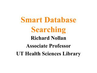 Smart Database Searching