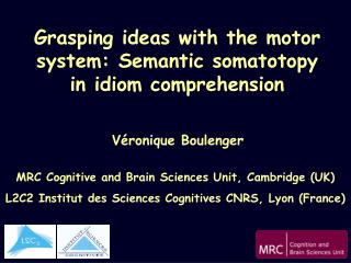 Grasping ideas with the motor system: Semantic somatotopy in idiom comprehension