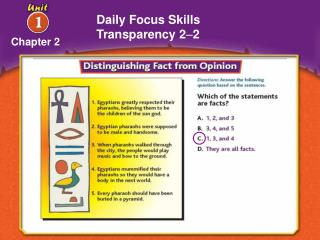 Daily Focus Skills Transparency 2 – 2