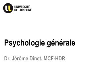 Psychologie g�n�rale
