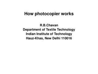 How photocopier works
