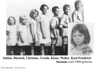 Dietrich Bonhoeffer – Die Geschwister