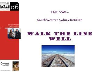 TAFE NSW –  South Western Sydney Institute
