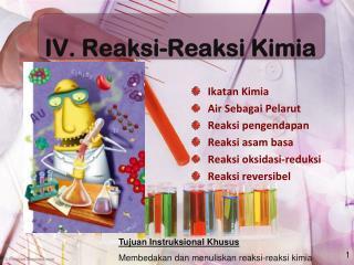IV.  Reaksi - Reaksi Kimia