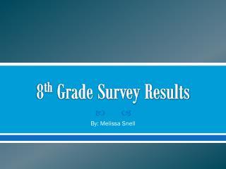 8 th  Grade Survey Results