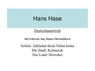 Hans Hase