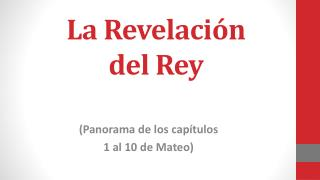 La  Revelación del  Rey