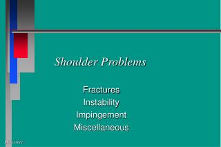 Shoulder Problems