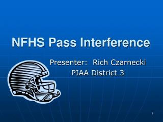 NFHS Pass Interference