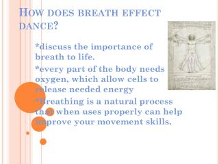 How does breath effect dance?