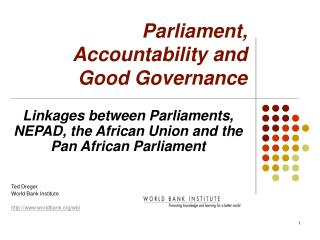 Parliament, Accountability and  Good Governance