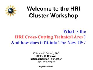 Welcome to the HRI Cluster Workshop
