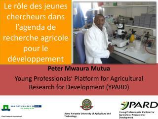 Le rôle des jeunes chercheurs dans l'agenda de recherche agricole pour le développement