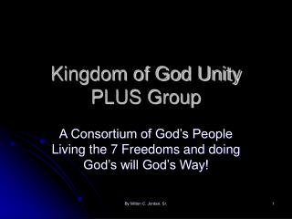Kingdom of God Unity PLUS Group