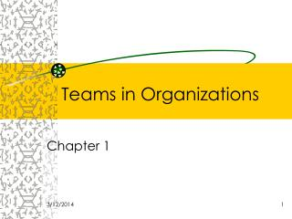 Teams in Organizations