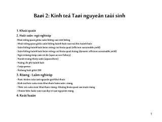 Baøi 2: Kinh teá Taøi nguyeân taùi sinh
