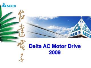 Delta AC Motor Drive 2009