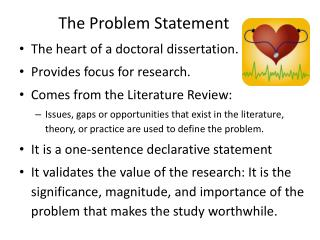 The Problem Statement