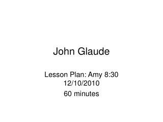 John Glaude