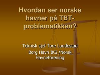Hvordan ser norske havner p� TBT- problematikken?