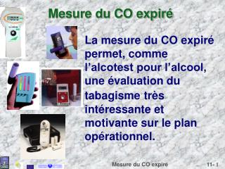 Mesure du CO expir�