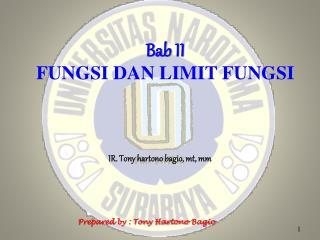 Bab  II FUNGSI DAN LIMIT FUNGSI