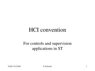 HCI convention