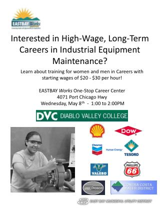Interested in High-Wage, Long-Term Careers in Industrial Equipment Maintenance?