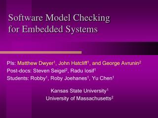 Software Model Checking  for Embedded Systems