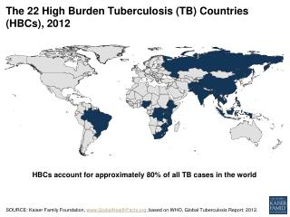 The 22 High Burden Tuberculosis (TB) Countries (HBCs), 2012