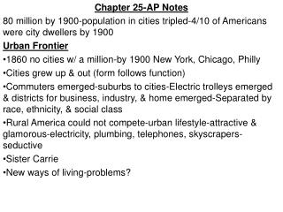Chapter 25-AP Notes
