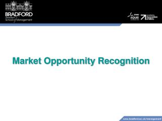 Market Opportunity Recognition
