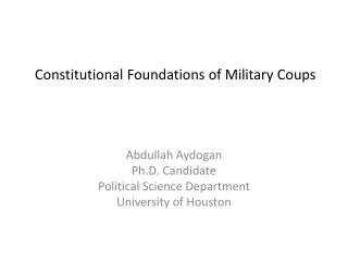 Constitutional Foundations of Military Coups