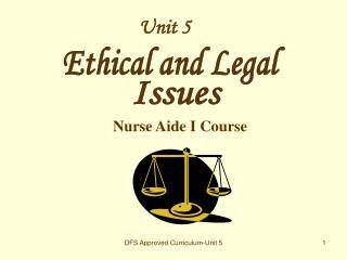 Nurse Aide I Course