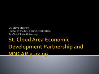 St. Cloud Area Economic Development Partnership and MNCAR 9.02.09