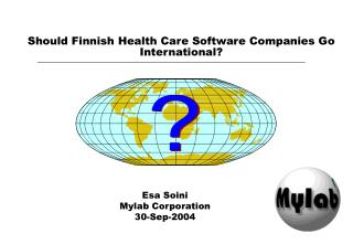 Should Finnish Health Care Software Companies Go International?