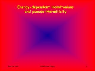 Energy-dependent Hamiltonians and pseudo-Hermiticity