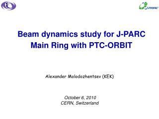 Beam dynamics study for J-PARC Main Ring with PTC-ORBIT