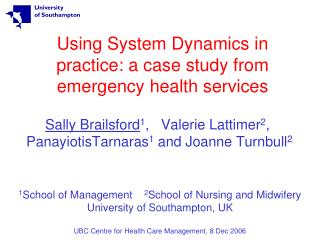 Using System Dynamics in practice: a case study from emergency health services