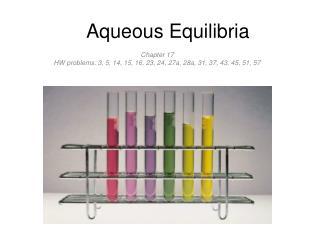 Aqueous Equilibria