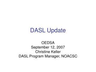 DASL Update