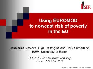Using EUROMOD  to nowcast risk of poverty in the EU